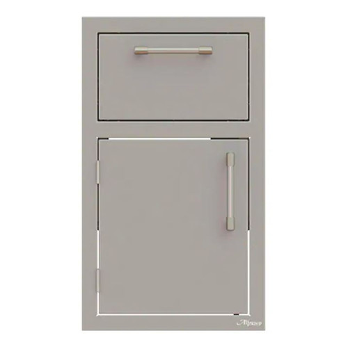 Alfresco 17-Inch Stainless Steel Left-Hinged Soft-Close Door & Drawer Combo - AXE-DDR-L-SC