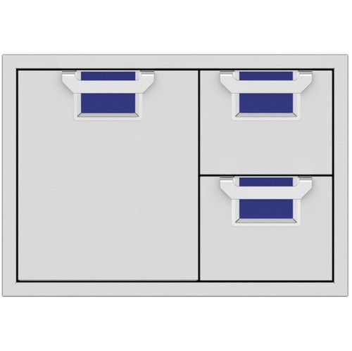 Aspire By Hestan 30-Inch Double Drawer And Single Storage Door Combo - Prince - AESDR30-BU