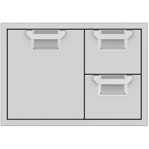 Aspire By Hestan 30-Inch Double Drawer And Single Storage Door Combo - Steeletto - AESDR30-SS