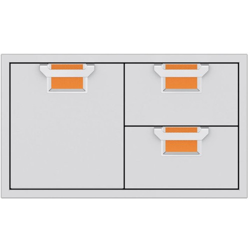 Aspire By Hestan 36-Inch Double Drawer And Single Storage Door Combo - Citra - AESDR36-OR