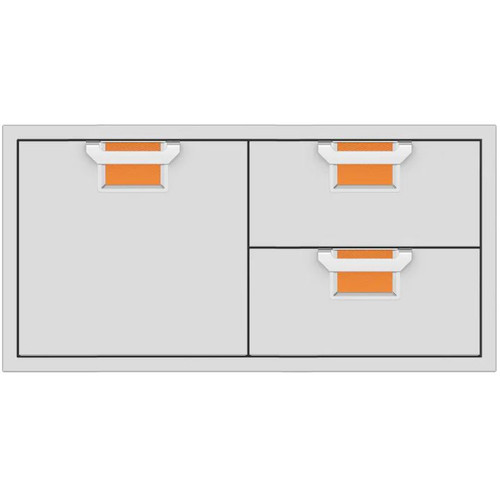 Aspire By Hestan 42-Inch Double Drawer And Single Storage Door Combo - Citra - AESDR42-OR