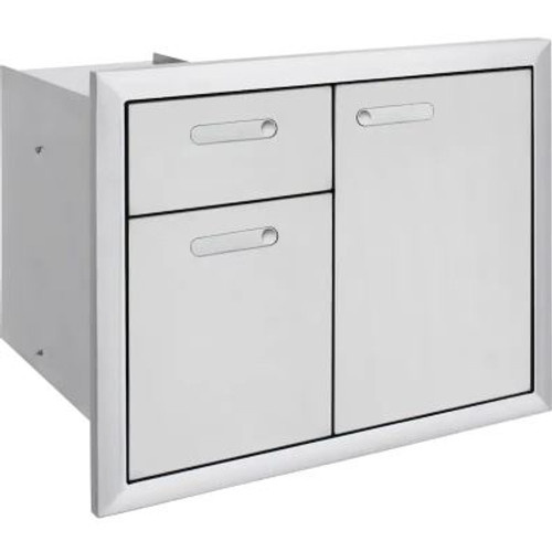 Lynx Ventana 30-Inch Trash Center And Double Drawers - LTA30-4