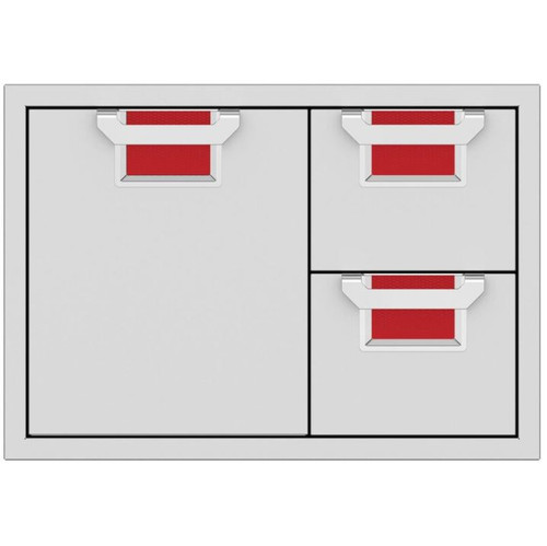Aspire By Hestan 30-Inch Double Drawer And Single Storage Door Combo - Matador - AESDR30-RD