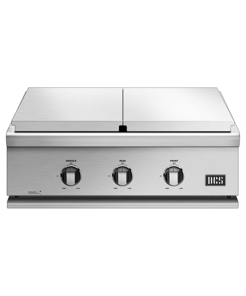 DCS Liberty 30-Inch Built-In Natural Gas Double Side Burner And Griddle - BFGC-30BGD-N