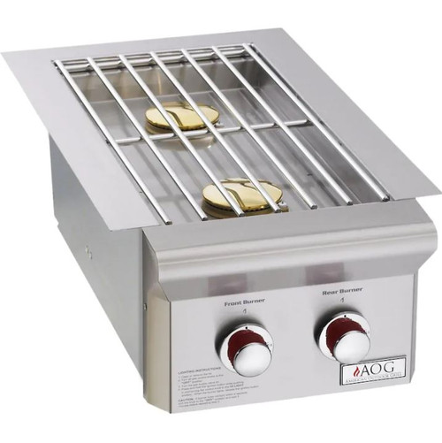 American Outdoor Grill T-Series Drop-In Propane Gas Double Side Burner - 3282PT