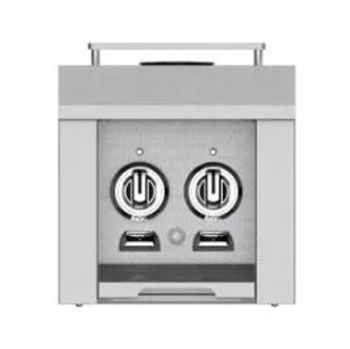 Hestan Built-In/Cart Mounted Natural Gas Double Side Burner - Steeletto - AGB122-NG-SS