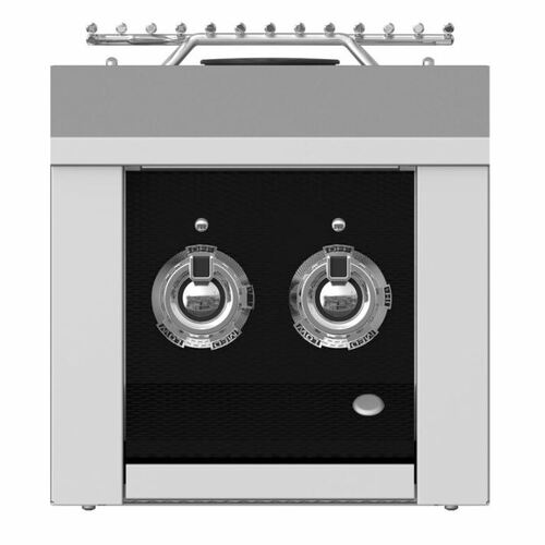 Aspire By Hestan Built-In Natural Gas Double Side Burner - Stealth - AEB122-NG-BK