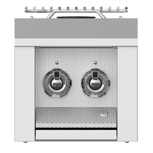 Aspire By Hestan Built-In Propane Gas Double Side Burner - Steeletto - AEB122-LP-SS