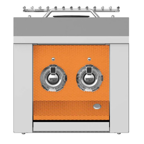 Aspire By Hestan Built-In Natural Gas Double Side Burner - Citra - AEB122-NG-OR