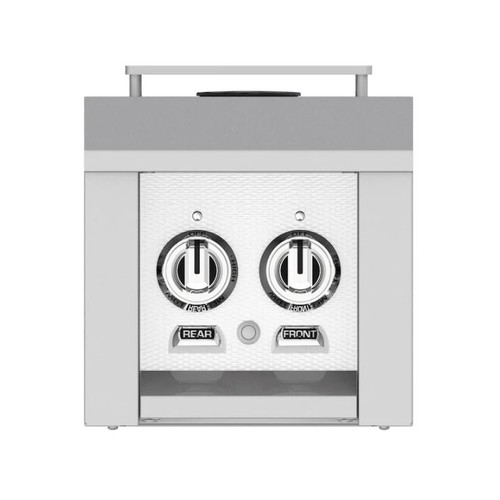 Hestan Built-In/Cart Mounted Natural Gas Double Side Burner - Froth - AGB122-NG-WH