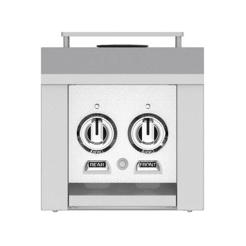 Hestan Built-In/Cart Mounted Propane Gas Double Side Burner - Froth - AGB122-LP-WH