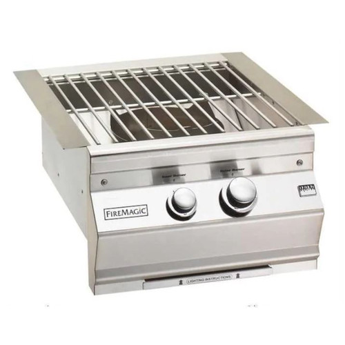 Fire Magic Classic Built-In Natural Gas Power Burner W/ Stainless Steel Grid - 19-KB1N-0