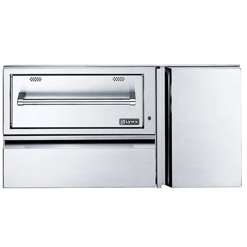 Lynx 42-Inch Convenience Center With Built-In 120V Electric Warming Drawer & Propane Tank Storage - L42CC-1