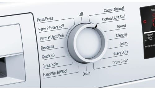 Bosch 300 Series  WAT28400UC 24 Inch Front Load Washer with Quick Wash, Allergen Cycle, Automatic Wash, Snag-Free Drum, 15 Total Cycles, Anti-Vibration Design, 16 Towel Capacity, 1,400 RPM, ADA Compliant and ENERGY STAR
