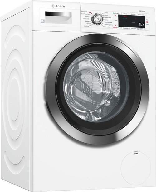 Bosch 800 Series WAW285H2UC 24 Inch Compact Smart Washer with Wi-Fi, Home Connect, SpeedPerfect™, Alexa Voice Control, AquaStop® Plus, EcoSilence Motor™, 14 Wash Cycles, 10 Wash Options, ADA Compliant, ENERGY STAR® Rated and 2.2 cu. ft. Capacity