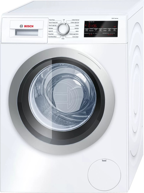 Bosch 500 Series WAW285H1UC 24 Inch Compact Front Load Smart Washer with 2.2 Cu. Ft. Capacity, Home Connect™, 14 Wash Cycles, 10 Options, Touch Control Display, Easy Start Option, AquaShield®, SpeedPerfect™, EcoPerfect™, and ENERGY STAR® Certified
