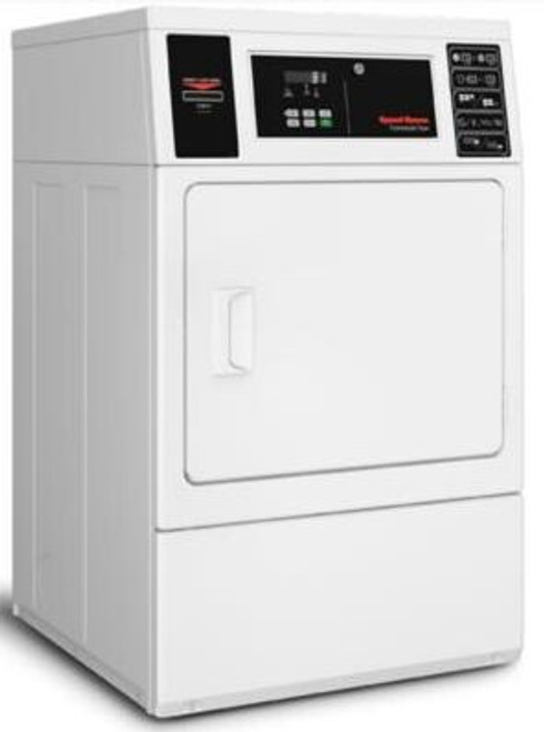 Speed Queen SDGNCAGS116TW01 27 Inch Commercial Gas Dryer with 7 Cu. Ft. Capacity, Quantum® Gold Pro Control, Integrated Meter Case, Large Door Opening, Reversible Door, 5 Dry Cycles, and cCSAus Approved: Coin Drop Installed