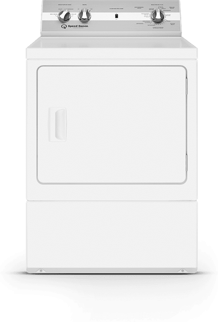 Speed Queen DC5003WE 27 Inch Electric Dryer with 7.0 Cu. Ft. Capacity, End of Cycle Indicator, Reversible Door, Interior Light, and Up-Front Lint Filter