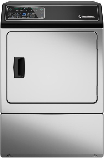 Speed Queen DF7000SE 27 Inch Electric Dryer with 7 Preset Cycles, 4 Auto Dry Cycles, Moisture Sensor, EcoDry, End-of-Cycle Signal, Extended Tumble Setting, Reversible Door, Interior Light, ADA Compliant, 220 CFM and 7.0 cu. ft. Capacity: Stainless St