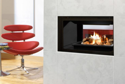 GEMINIZero Clearance Direct Vent See Through Gas Fireplace