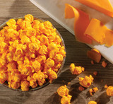 Hover - Overhead view of CheeseCorn with flavor cues