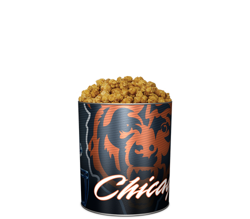 Garrett Popcorn Shops CaramelCrisp® in Classic Chicago Bears Sport Tin