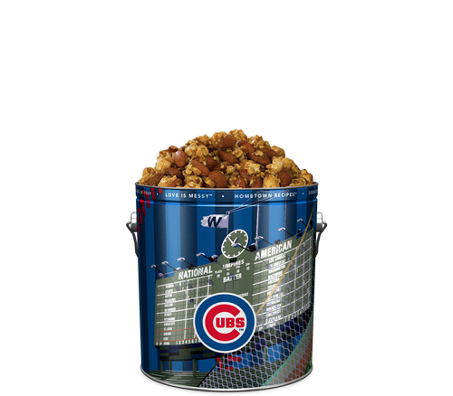 Garrett Popcorn Shops Almond CaramelCrisp® in Classic Chicago Cubs Wrigley Tin