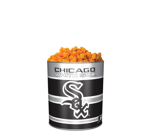 Garrett Popcorn Shops Spicy CheeseCorn in Classic Chicago White Sox Sport Tin