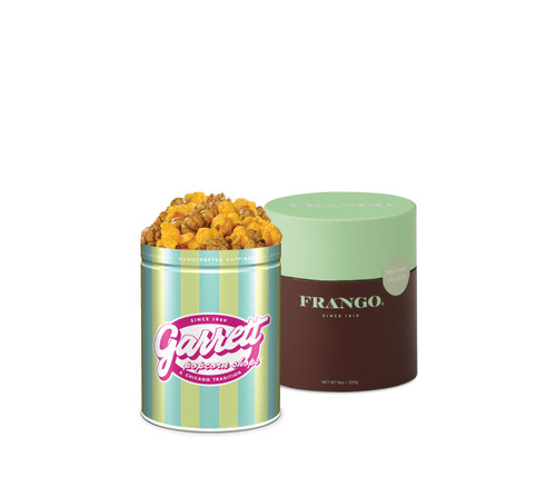 Petite Garrett Mix and Frango Bundle - Signature Petite Petite tin of Garrett Mix and Round of Milk Mint Chocolate