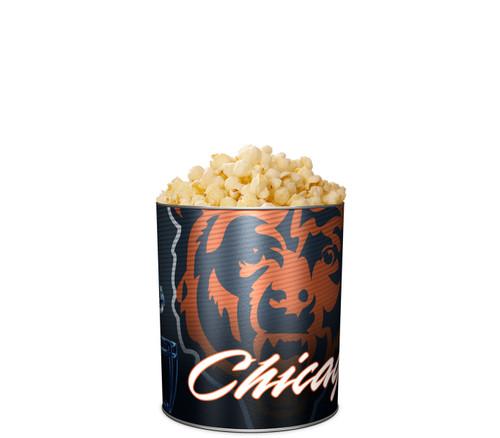 Garrett Popcorn Shops KettleCorn in Classic Chicago Bears Sport Tin