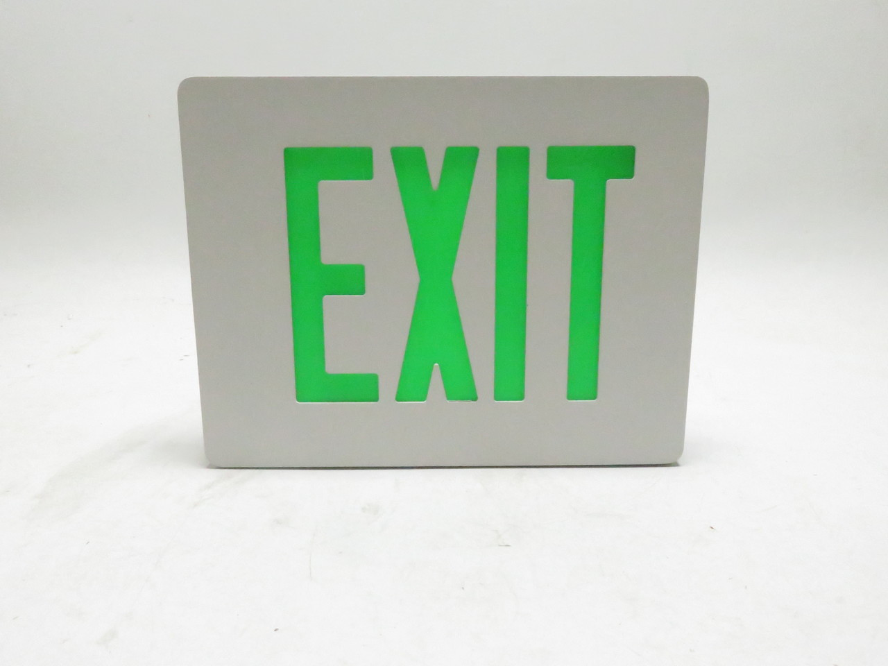 Die Cast Exit Sign Single Face Dual Lite