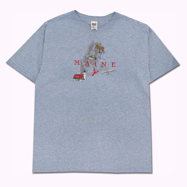 Vintage Maine Embroidered T-Shirt