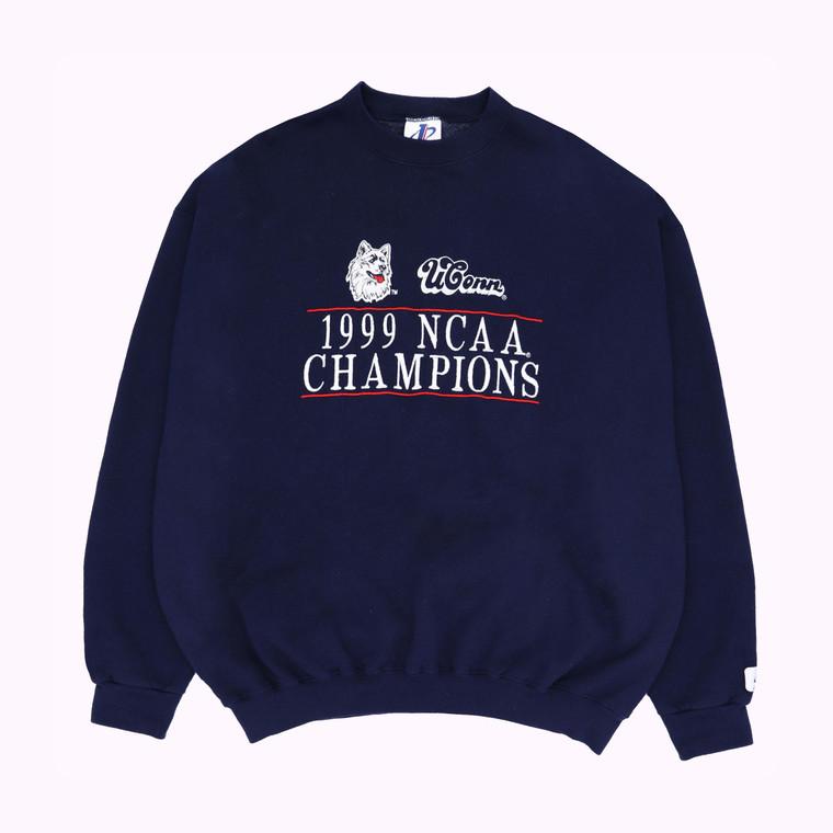 Vintage 1990 UConn NCAA Champions Crewneck