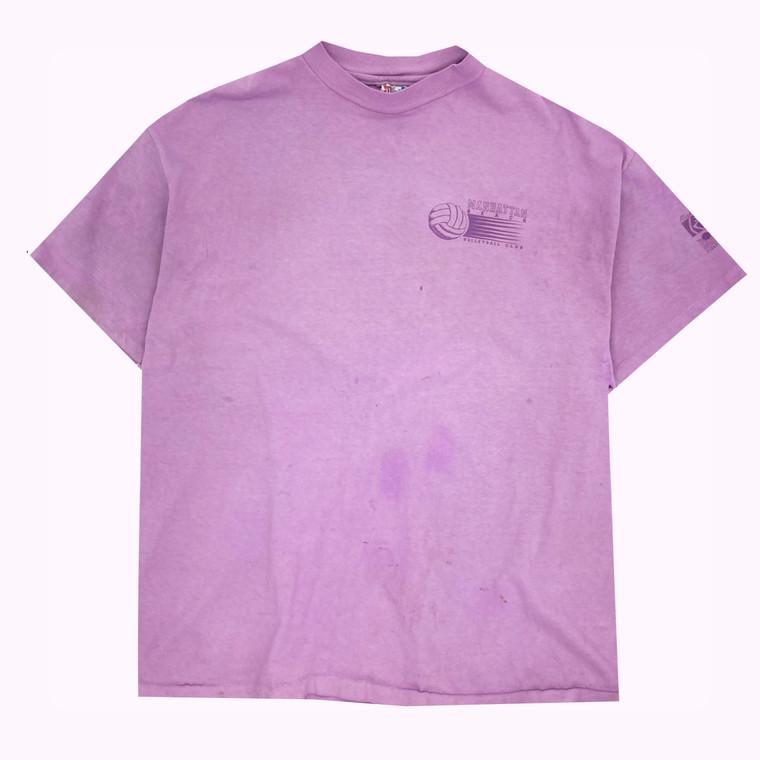 Vintage 80s Hand-Dyed Manhattan Beach, Los Angeles Volleyball Club T-shirt