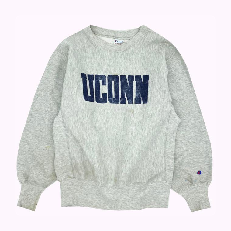 Vintage 90s UConn Reverse Weave Champion Crewneck