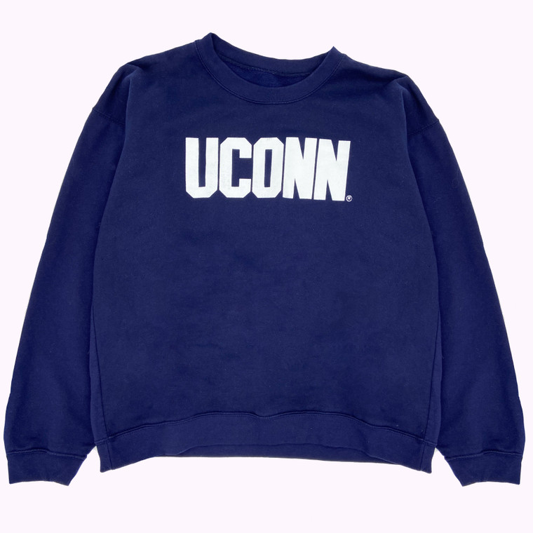 Vintage 90s Navy UConn Crewneck Sweatshirt
