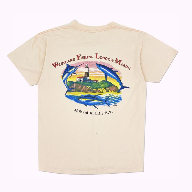 Vintage 80s Montauk, NY Fishing Lodge and Marina
