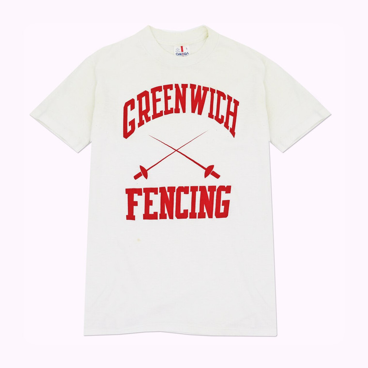 Vintage 80s Greenwich Connecticut Fencing Shirt