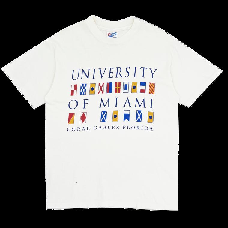 Vintage 90's University of Miami Sailing Flags T-Shirt