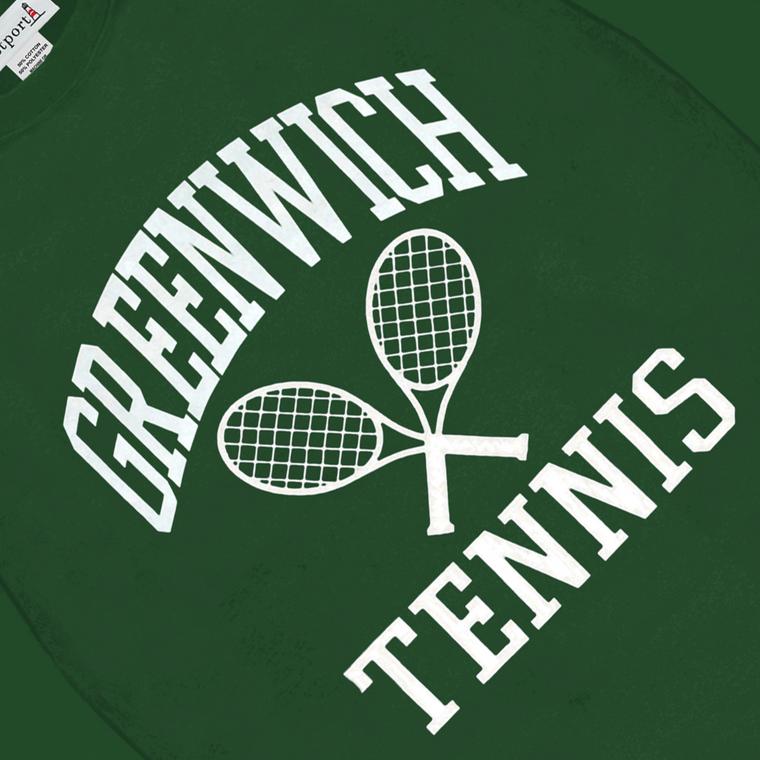 Greenwich Tennis Crewneck - Forest