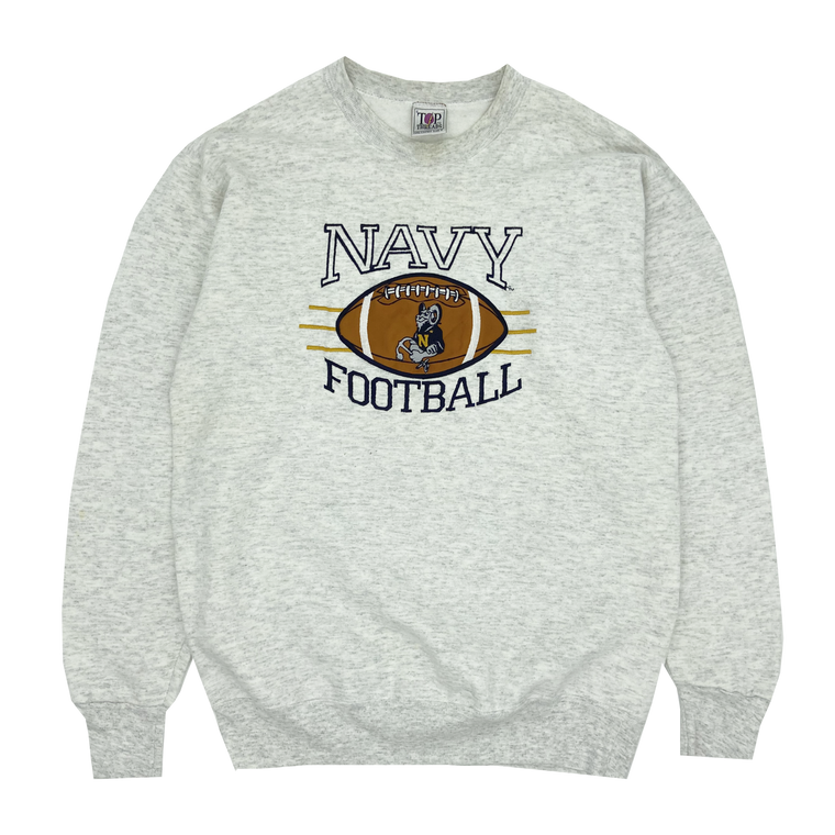 Vintage 90's Navy Football Crewneck Sweatshirt