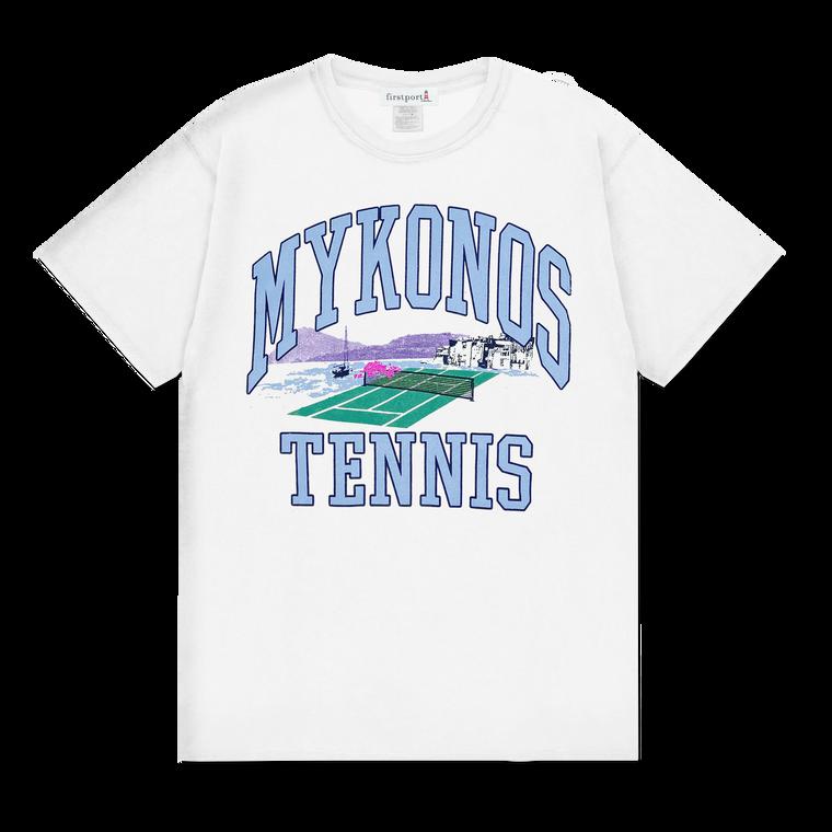 Mykonos Tennis T-shirt- White