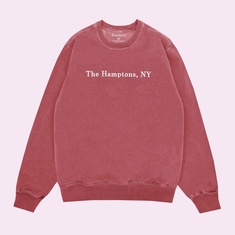The Hamptons Tour Crewneck - Dyed Crimson