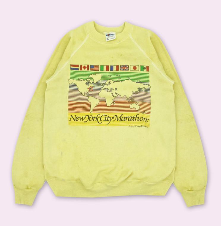 Vintage 1989 New York City Marathon Crewneck Sweatshirt