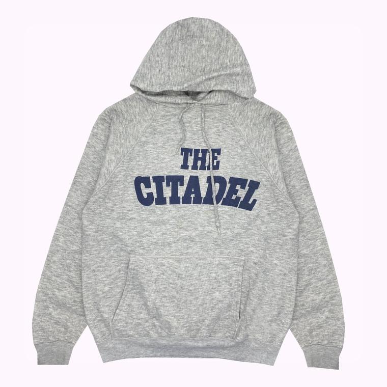 Vintage 90's The Citadel College Hooded Sweatshirt