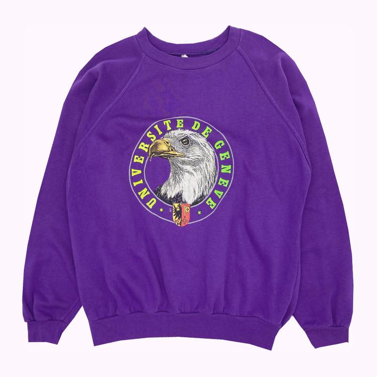 Vintage 80's University of Geneva Crewneck Sweatshirt