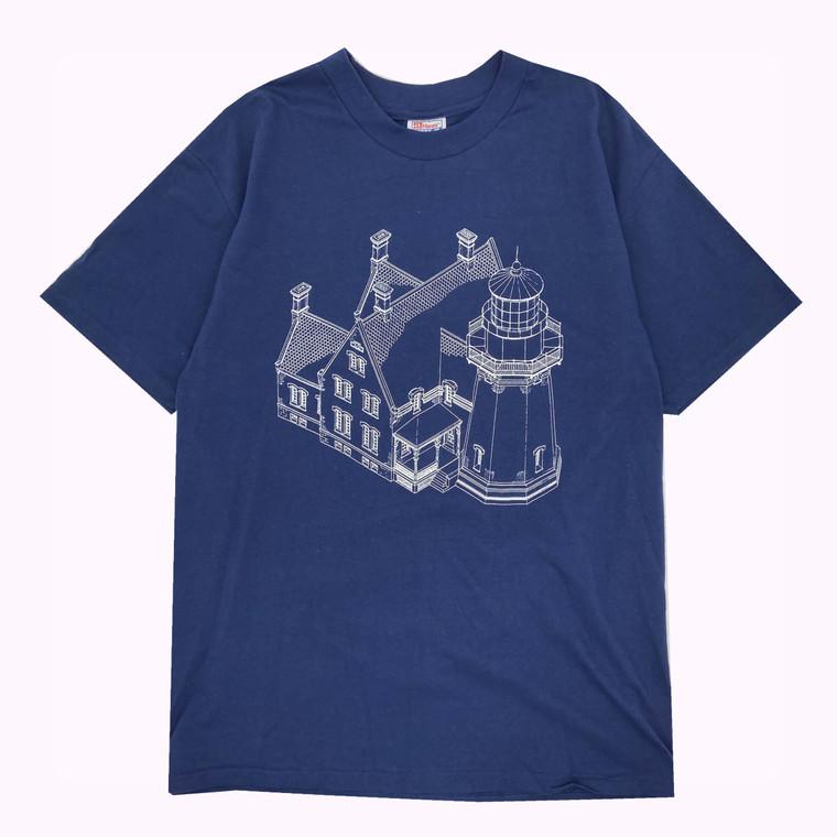 Vintage 90s Block Island Lighthouse T-Shirt