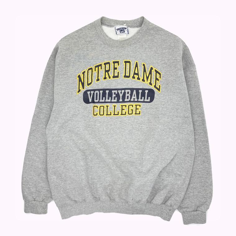 Vintage Notre Dame University Volleyball Crewneck Sweatshirt