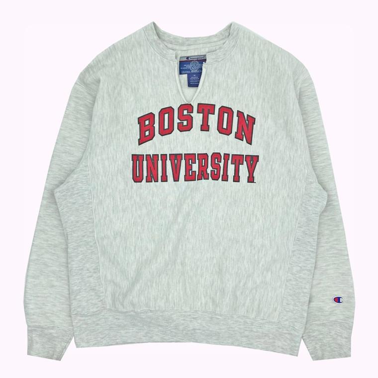 Vintage 90's Boston University Champion Reverse Weave Crewneck Sweatshirt