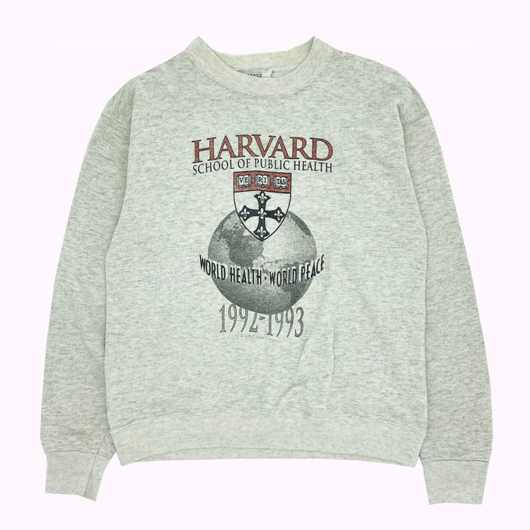 "Vintage 1990's Harvard ""Worldwide Health & Peace"" Crewneck Sweatshirt"